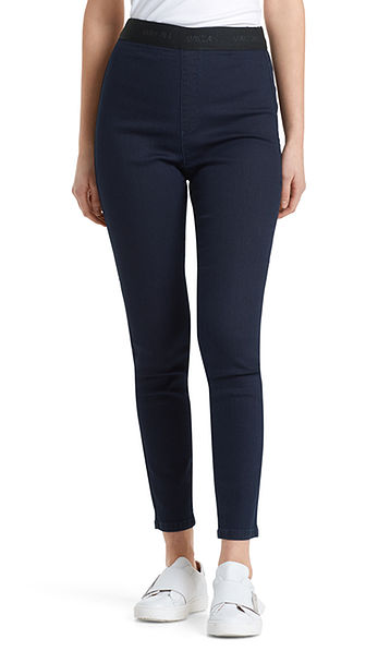 Stretch jeans with elasticated waistband