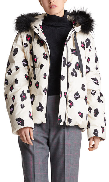 Doudoune avec motif léopard