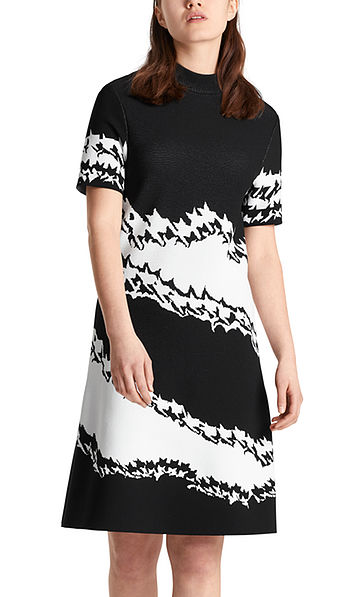 Dress with houndstooth pattern