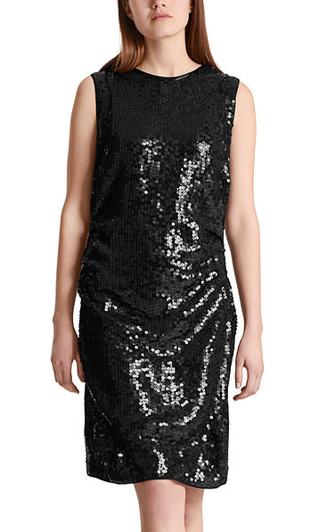 Dress with sequin embroidery