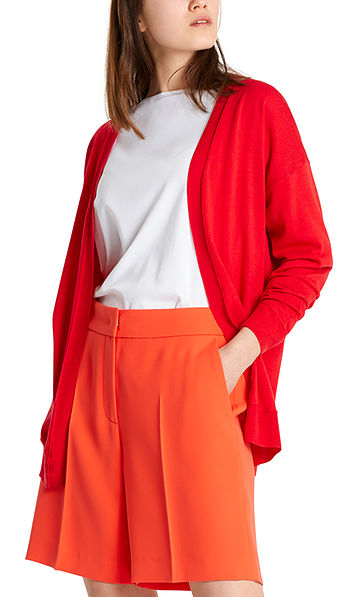 Knitted jacket with silk and cashmere