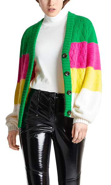 Strickjacke mit Colourblocking