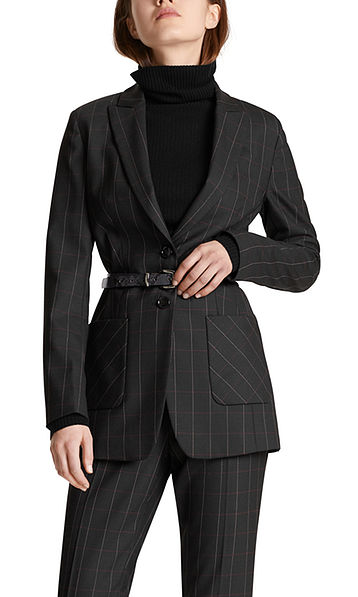 Blazer with subtle checked pattern