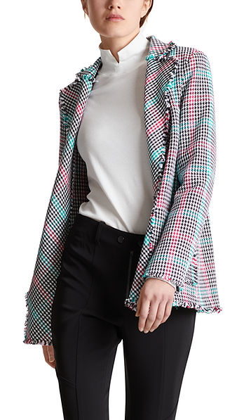 Blazer with Pepita pattern