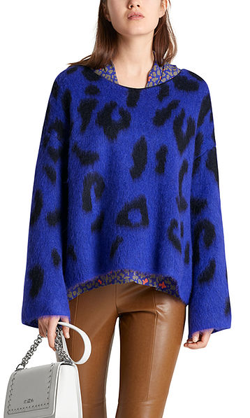 Pullover mit Leoparden-Jacquard