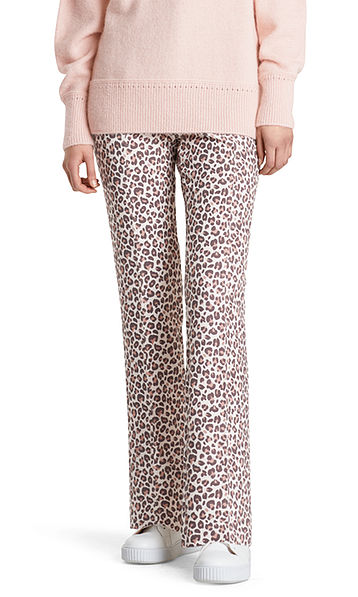 Pants with leopard pattern