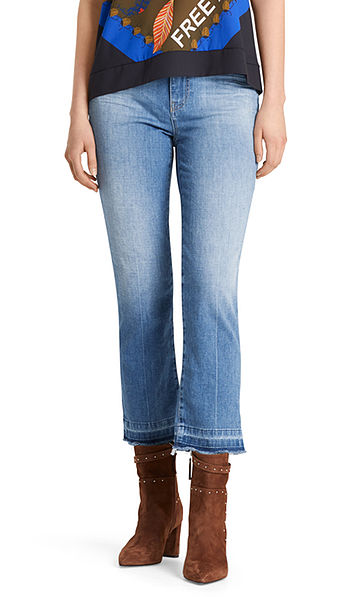 Jeans with mini fringes