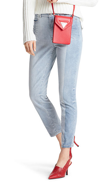 Jeans bicolore tendance