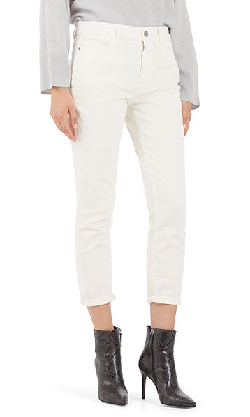 Jeans with decorative button