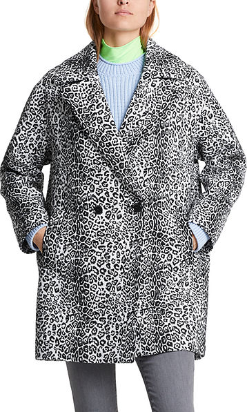 Manteau jacquard à motif léopard