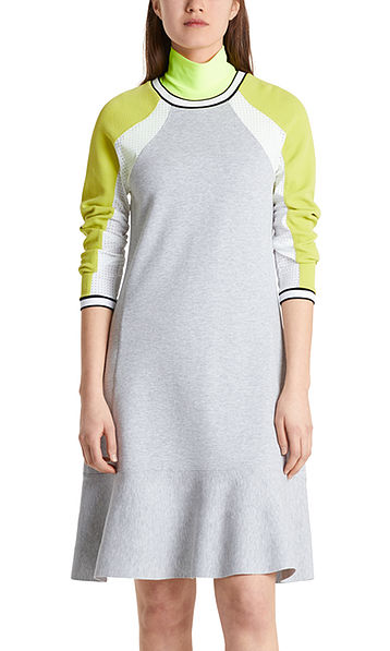 Gebreide jurk met colourblocking