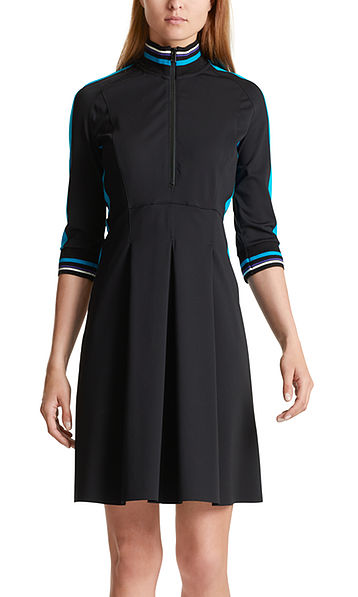 Stretch dress with colour blocking