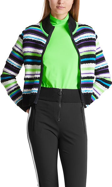 Multicoloured knitted jacket