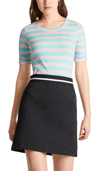Striped T-shirt in cotton