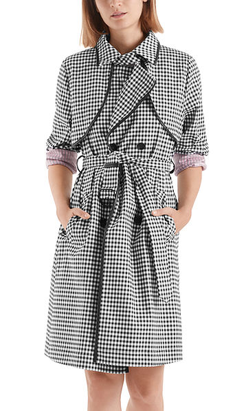 Trench coat with Vichy check