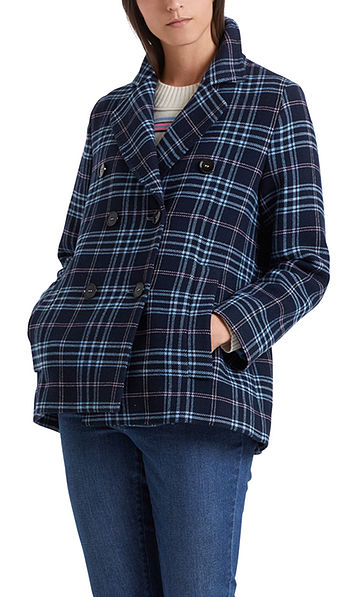 Plaid short coat