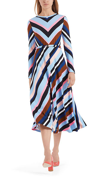 Long dress with striped design