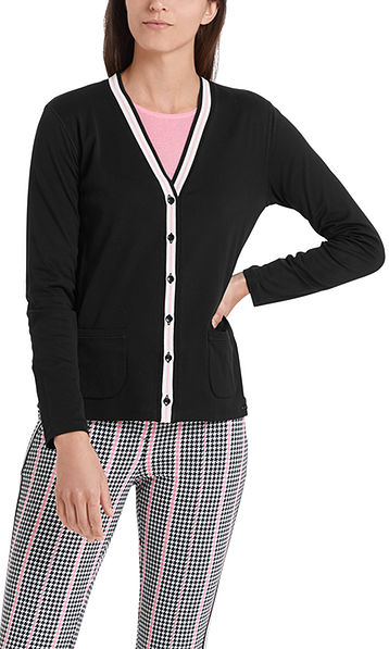 Cardigan in cotton jersey