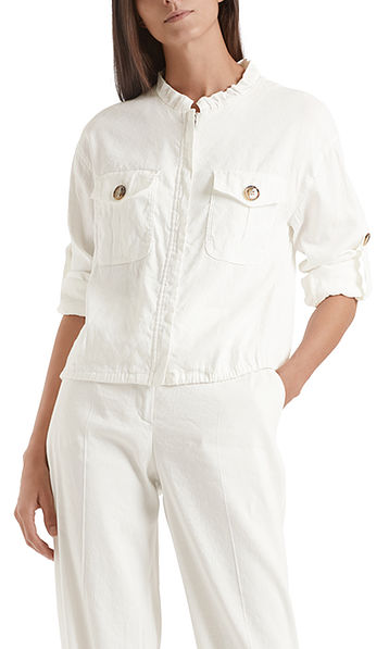 Safari-Style-Jacke aus Leinenmix