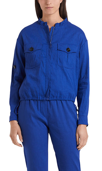 Safari-style jacket in linen blend
