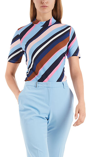 T-shirt with coloured stripes