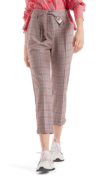 Checked paperbag pants