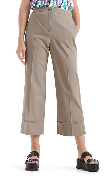 Culottes with stripe inserts