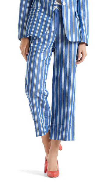Sophisticated culottes with stripes