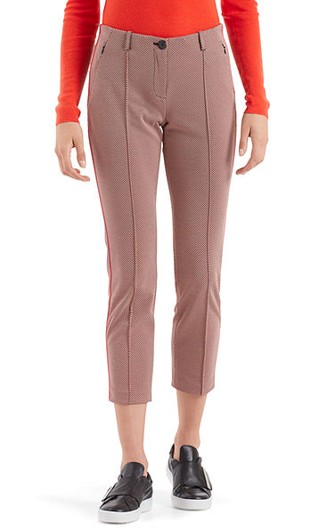 Gedessineerde pantalon met strepen opzij