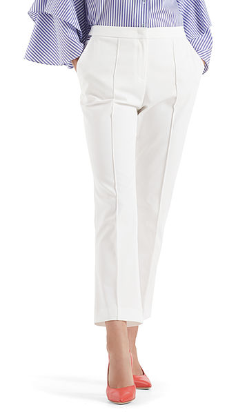 7/8 pants in stretch cotton fabric