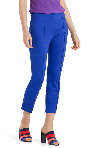 Elegant jersey trousers with crease