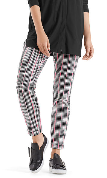 Jersey pants with shepherd's check