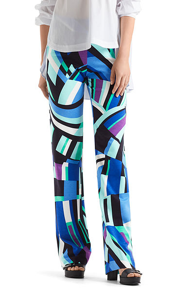 Jersey pants with graphic print