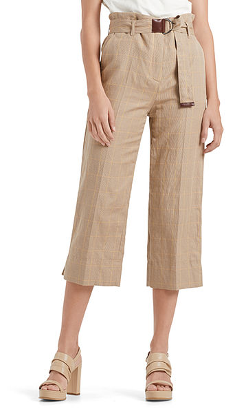 Checked pants in culotte style