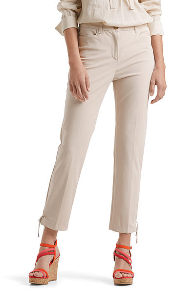 Stylish stretch pants in cotton blend