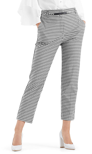 Pantalon stretch à carreaux vichy