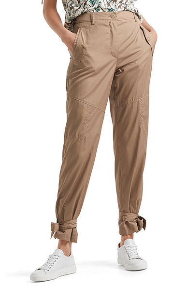 Cotton pants in safari style