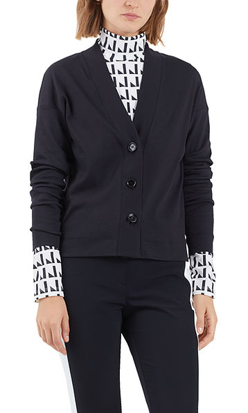 Simple jersey jacket