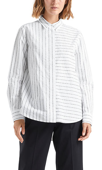 Blouse with logo pinstripes