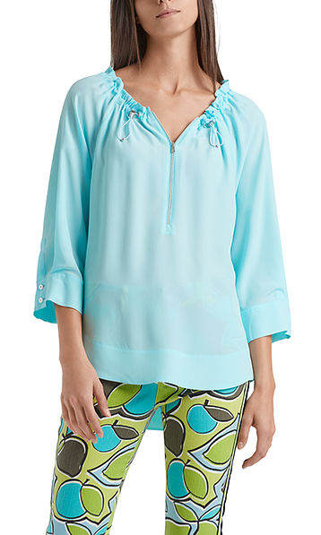 Blouse in silk blend
