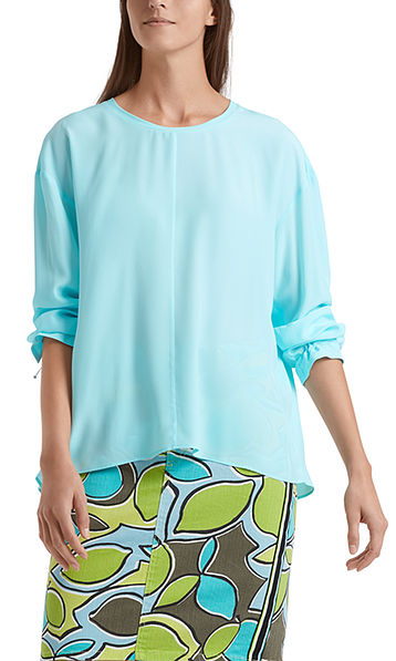 Blouse-style top in silk blend