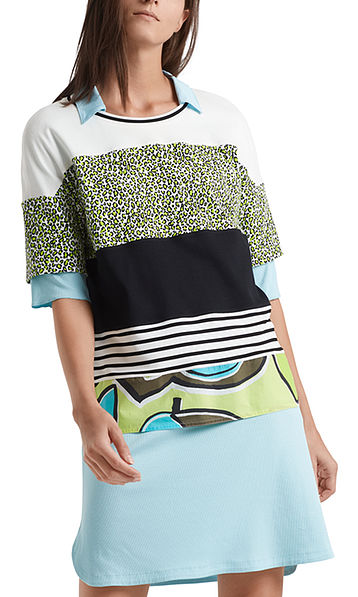 Blouse-style top with print mix