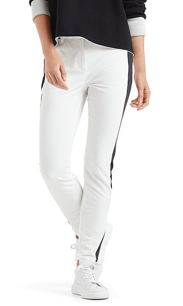 Pants with contrasting stripes