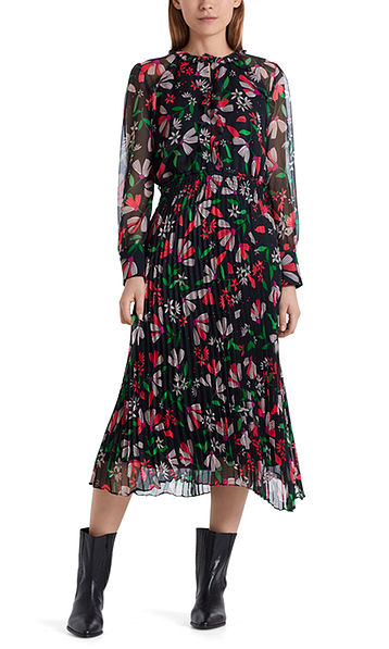 Robe mi-longue avec jupe plissée