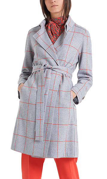 Coat in wool jersey