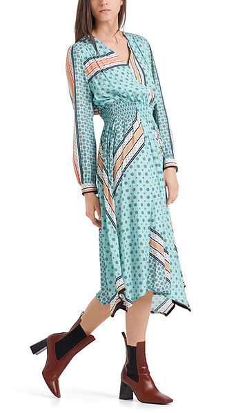 Kleid mit Foulard-Print