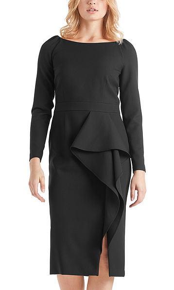 Elegant dress with flounce