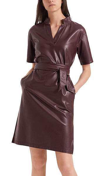 Kleid aus veganem Leder