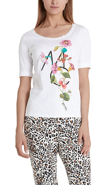 Top with floral motif