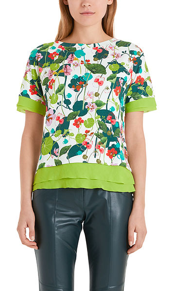 Shirt met waterlelieprint